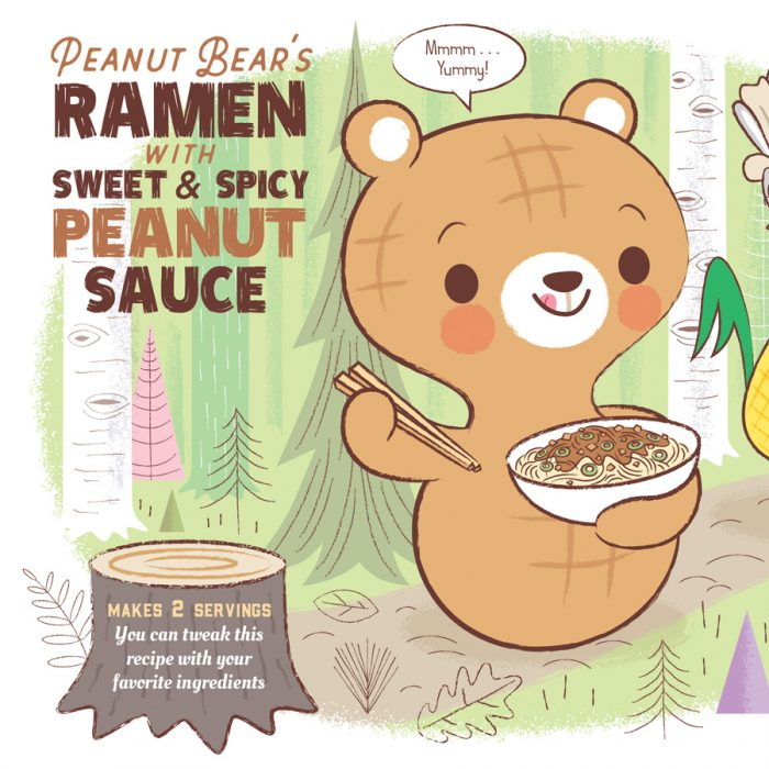Peanut Bear Sweet & Spicy Peanut Ramen Recipe